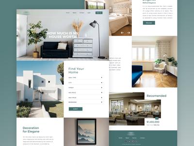 Real estate Website Design project