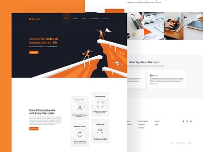 Outreach Landing Page photoshop figma webdesign outreach design web ux ui landing page design landing page