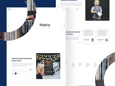 Evolving Landing Page landing page concept ux ui concept creative clean web design landing page website education