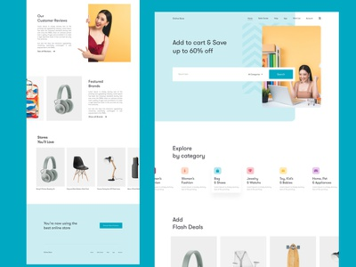 Online Store e-commerce design e-commerce website animation gif online store online shop e-commerce website web design landing page design webdesign web landing page concept ux ui