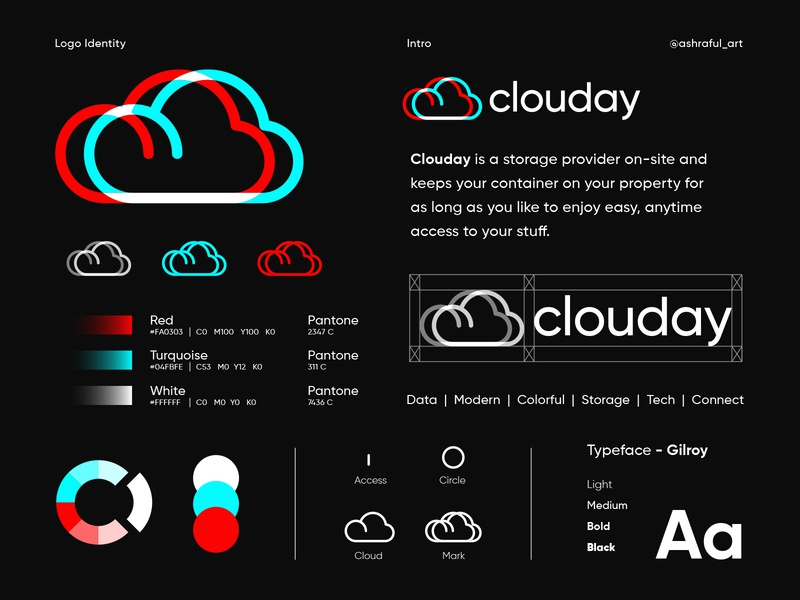 Clouday | Logo Identity supply connect vector icon mark symbol logodesign software tech icon hosting strategy digital deliver logo identity branding cloud logo save data storage cloud business abstract