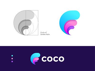 Golden Ratio-Logo Concept logo process logo concept logo creation graphic design design process brand identity design web vector ui symbol modern branding logodesign logodesigner latter c grid app gradient icon gradient golden ratio