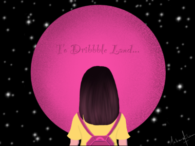 To dribbble land...