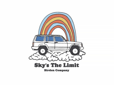 Sky is the limit for @birdenclothing apparel design graphic illustration