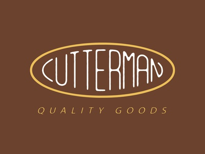 Cutterman quality goods lettering design graphic