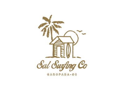 sal surfing co apparel graphics lettering illustraion