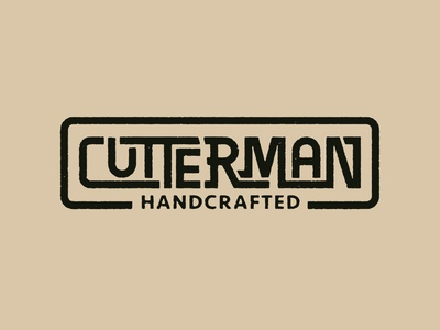 "lettering ""CUTTERMAN"" apparel graphic design design lettering"