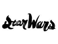 Star Wars lettering