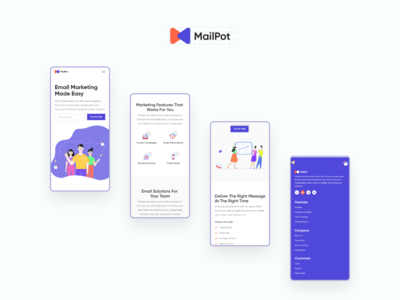 Mailpot - Responsive Screen
