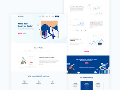 Analytica | Saas Landing Website