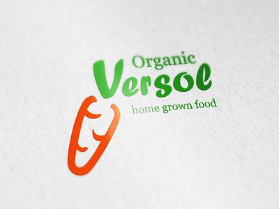 Logo Versol organic vegetables design logo food bio