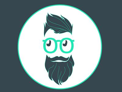 Avatar illustration style hipster avatar