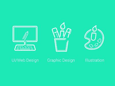 Icons illustration graphic icons