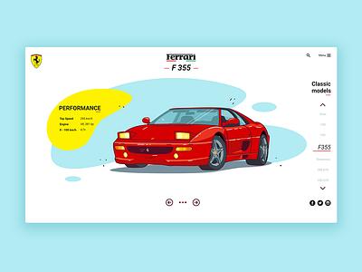 Ferrari F355 illustration sport car web design