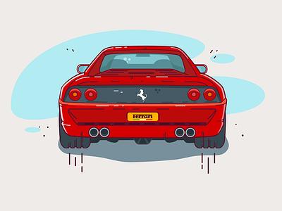 Ferrari F355 ferrari illustration