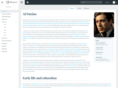 Wikipedia design challenge web design
