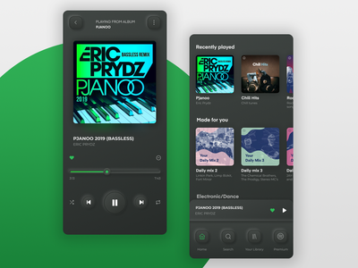Spotify Redesign mobile app