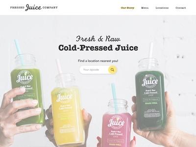 Pressed Juice Company Splash Page