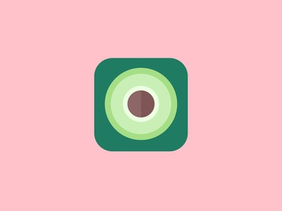 Avocado App Icon - Daily UI 005