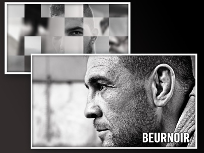 Beurnoir black and white boxers film short slider mixity composition video clip aftereffects photoshop photojournalism photography