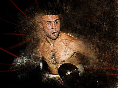 Boxer splatters poster event visual boxer boxing movement photography effect explosion dust splatters