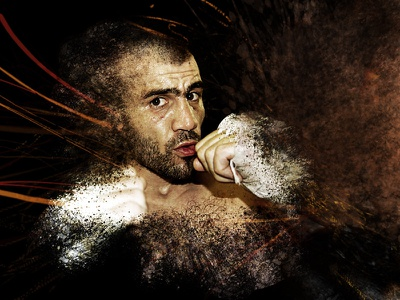 Boxing Visual sport visual flyer poster event splatters dust camera raw photoshop photography effect photgraphy visual illustration boxer boxing boxe