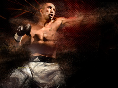 Fight Visual dynamic move sport texture comics splatters dust effect photography photo glove hit boxe boxing violence fight