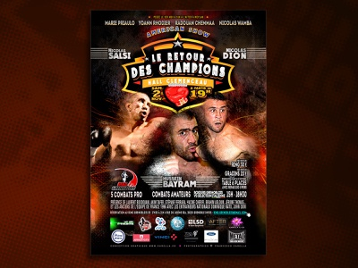 BOXING poster visual effect photoshop photography fight red composition sport boxxing affiche poster