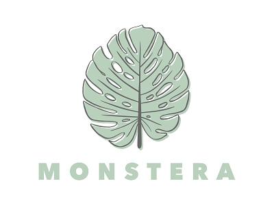 Monstera monstera leaf logo leaflet design leaf plants plant illustration plant icon plant icon graphic illustration vector symbol graphic design design