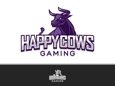 Updated 2019 Happy Cows Logo esportslogo esports game design game logo game gaming icon typography identity logo design logos brand design brand identity brand branding logo