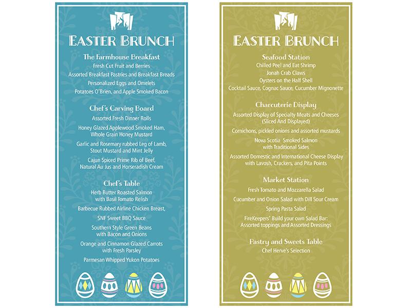 Easter Brunch Menu easter brunch menu eggs print easter eggs pattern
