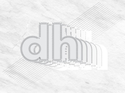 DH grand rapids michigan personal project alphabet design stylization dh letter