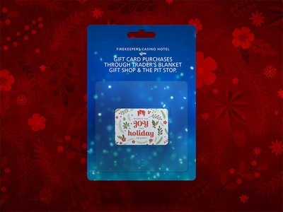 Gift Card joy casino gift shop holiday season holidays christmas print gift card