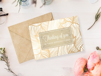 Thinking of you card hard times print greetings postcard thinking of you print card