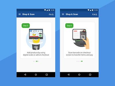 Shop & Scan Help Screen interface design help flow screen design ui  ux design ui ux user ux-ui ux designer uidesign