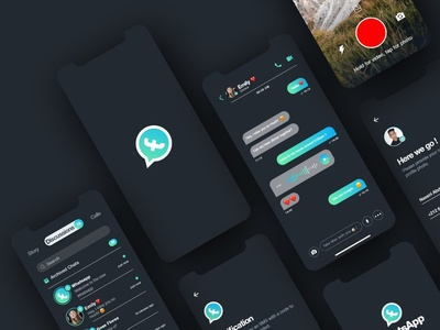 WhatsApp Rebranding UI/UX Dark mode