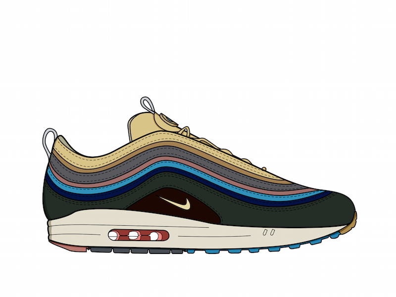 8d37f0c0ad Air Max 97 Wotherspoon shoes photoshop wotherspoon nike illustrator  illustration hypebeast design graphic fashion