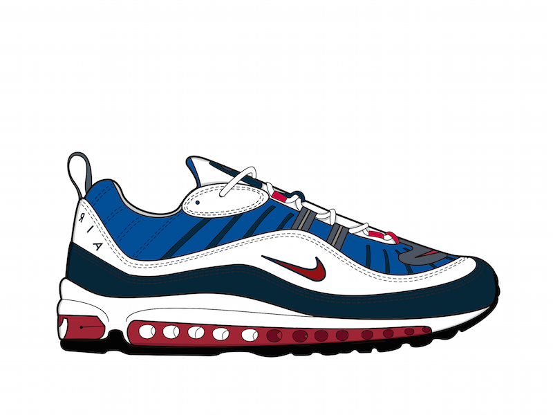 3944e04574e Air Max 98 Gundam by Elena Melero on Dribbble