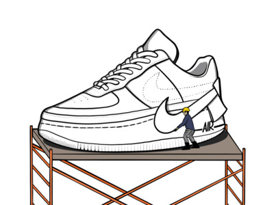 Nike Air force 1 Jester - Under construction concept