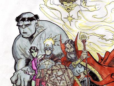 The Arcane Avengers marvel hulk dr. strange captain america wasp photon avengers comics superheroes