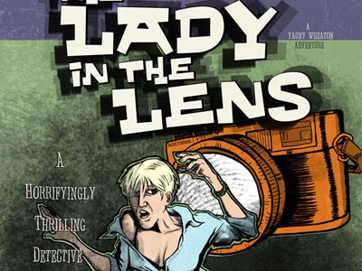 The Lady In The Lens horror camera thrilling pulp paperback cover cover art