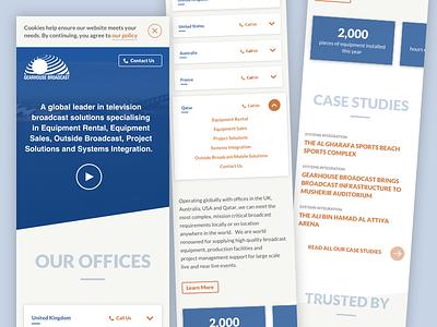 Homepage design responsive website webdesign typography layout