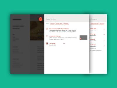 Intranet UI enterprise web app intranet layout design ui
