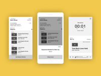 Exercise app wireframes