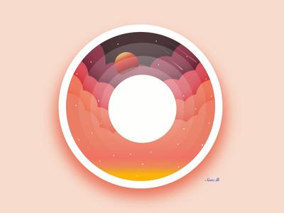 Sun flat vector design illustration