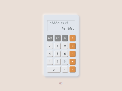 Neumorphism Calculator light mode typography simplicity clean design neumorphism minimal ui