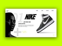 Nike Air force landing page design