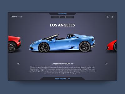 Car rental user interface