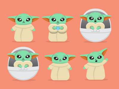 Baby Yoda illustration starwars yoda