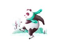 Skating Panda